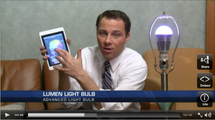 Lumen Bulb video by Fox31
