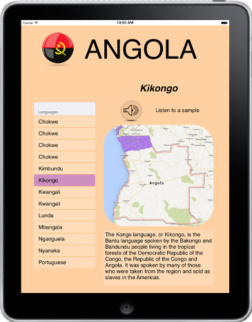 Peyi App: Languages of Angola