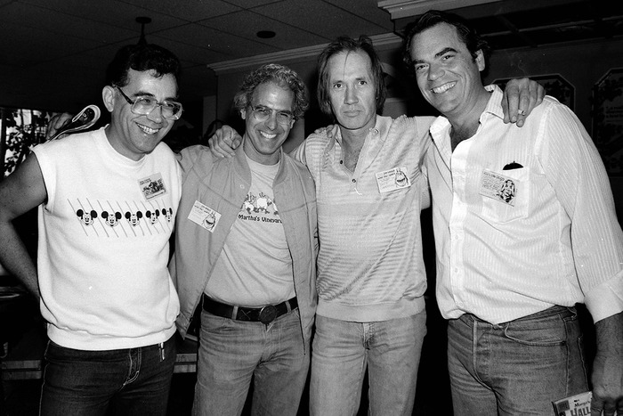 Mike Royer, Al Williamson, David Carradine, and Patrick Culliton