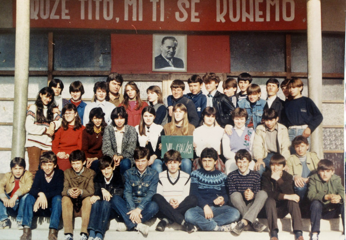 My mixed school class of Serbs and Muslims. We all look the same.