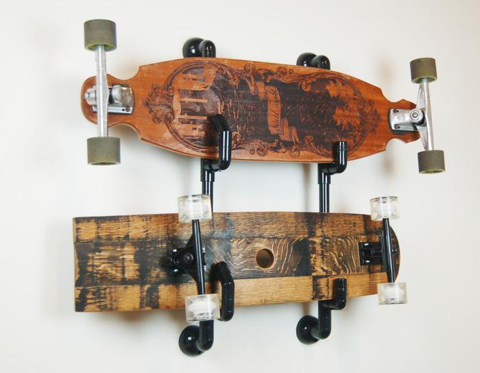 PVC pipe skateboard rack