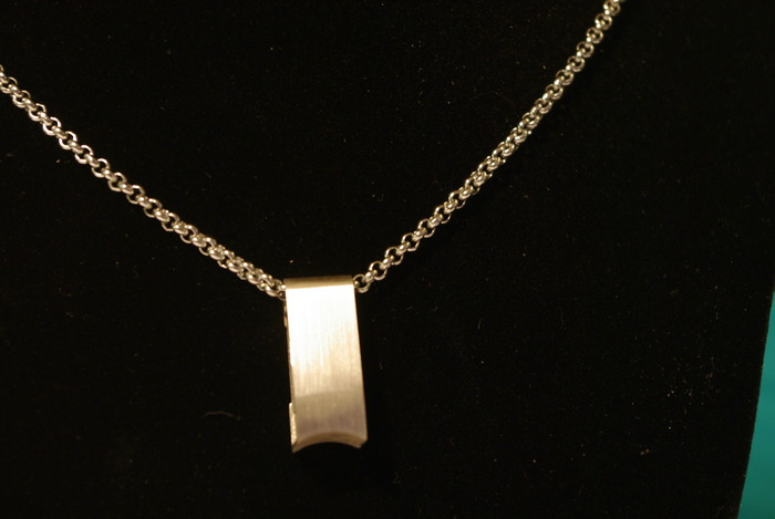 RINGSAFE on 3mm Rollo Chain Necklace