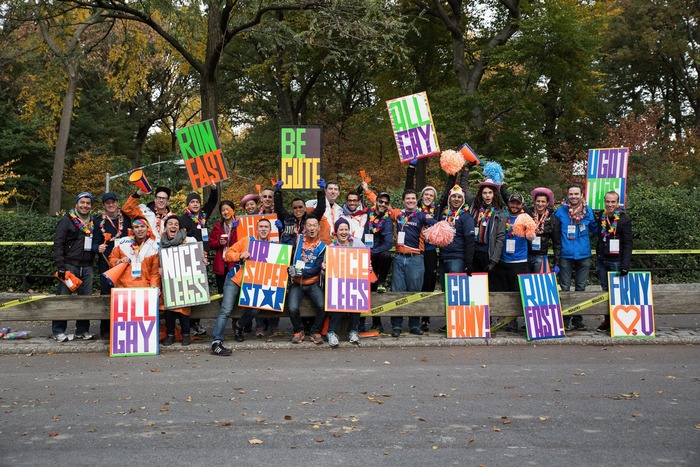 Cheering as an art form: Front Runners at the New York City Marathon