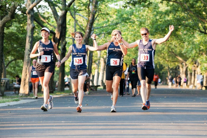 All together: Racing hand in hand through New York's Riverside Park