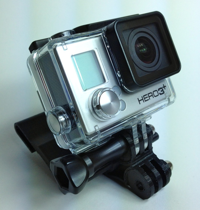 GoPro Hero3+ Mounted on the Window-Wedge (This position is best for exterior shots)