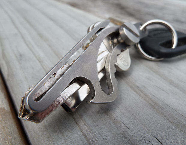 Quite Probably The World's Most Compact, Fully-Titanium, Multi-Function Key-Holder!