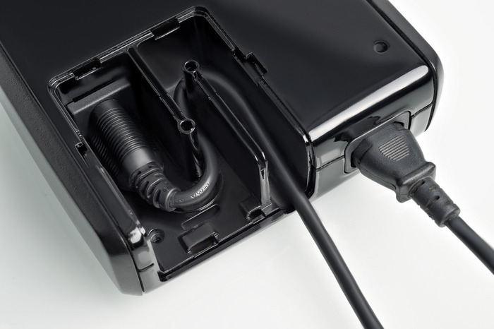 Place TV or game system power cord in lock compartment. Give the key to a friend or keep key out of easy reach.