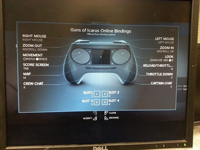 My preferred bindings (awkm) are available to those with a Steam Controller!