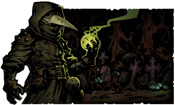 The Plague Doctor can hurl toxic plague grenades to sicken enemies.