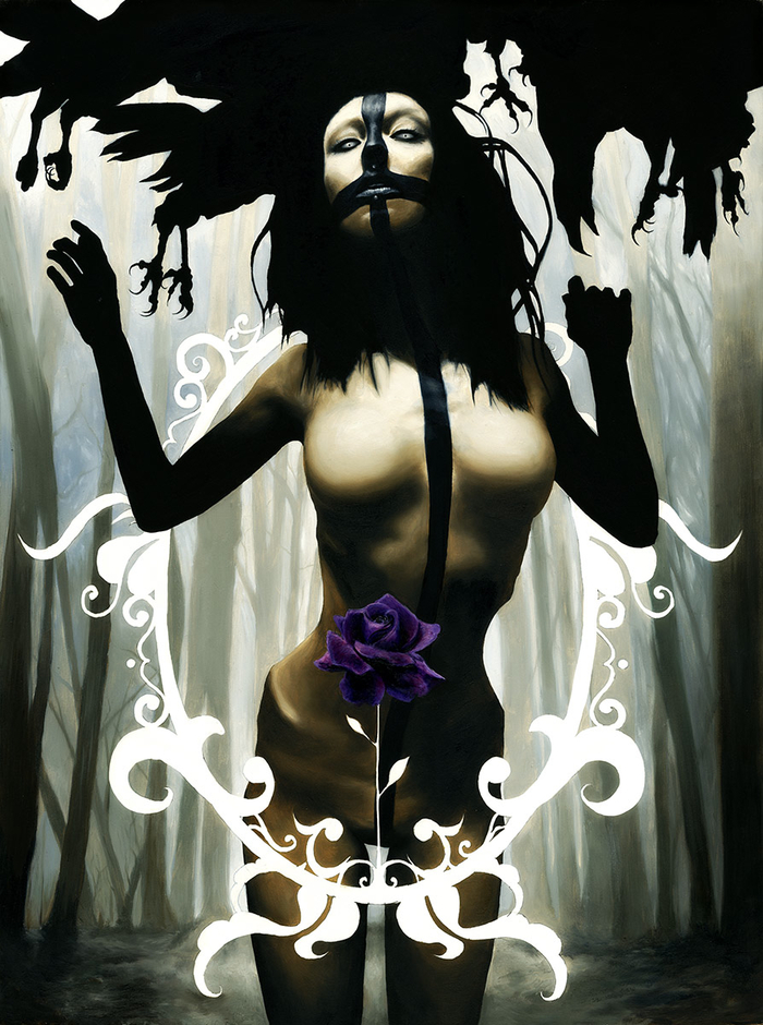 """18x24"""" oil painting """"Eurydice One"""" by menton3"""