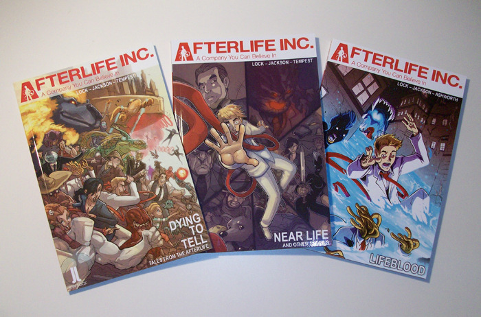 Volumes 1-3 of Afterlife Inc.