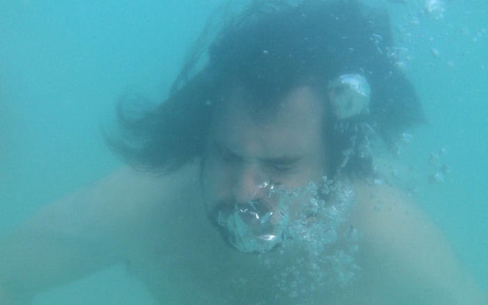 """Writer Dylan Otto. He knows about being """"underwater."""""""