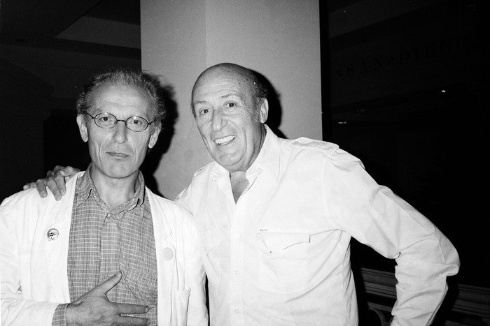Jean Giraud (Moebius) and Will Eisner, 1989.