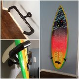 A great surfboard rack that holds the board vertically. Easy to get the board in and out. The variations are endless--make it how YOU want it with The Puck! See more at www.puckon.com.