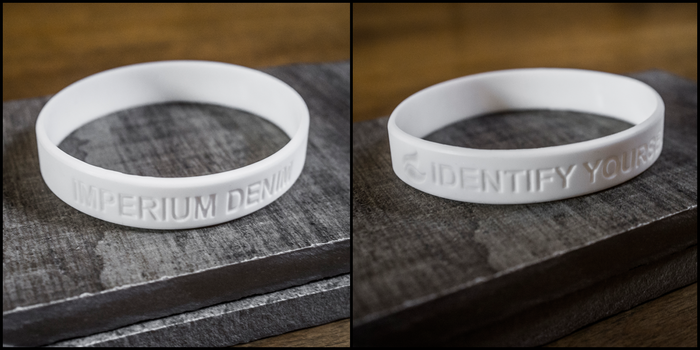 Wristband included with every pair of ID jeans purchased.