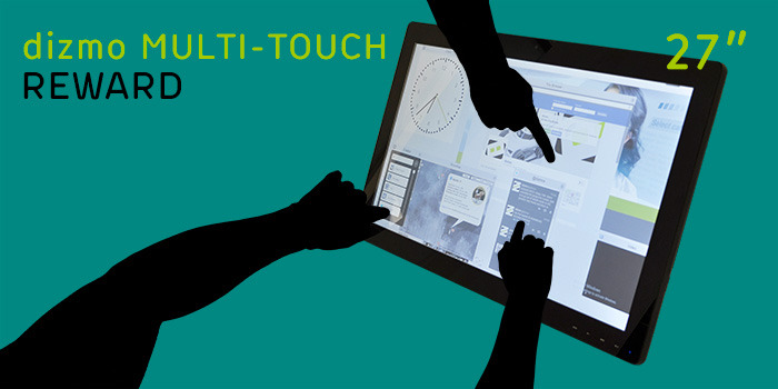 "dizmo space and 27"" multi-touch display available as a bundle"