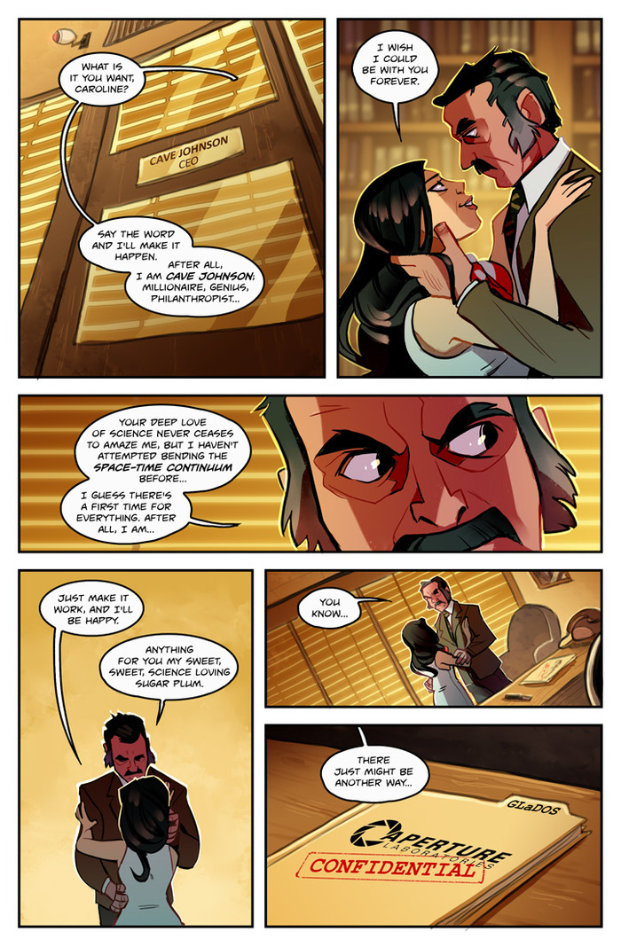 Cave and Caroline Story Concept.  Comics by A. Jones, pinali.deviantart.com