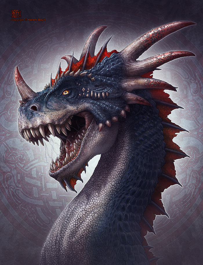 The Bloodhorn Dragon may make a ranged attack against any dragon on this battlefield.