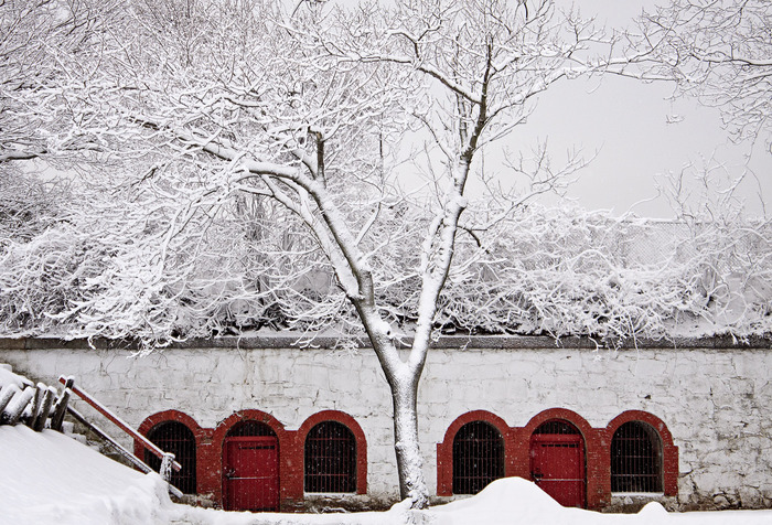 Fort Sewall in the Snow