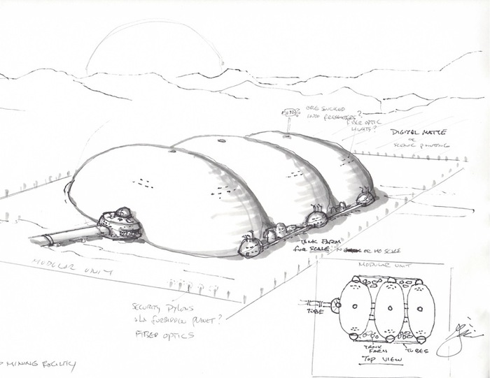 Greg Jein's inspired concept for a Martian factory.