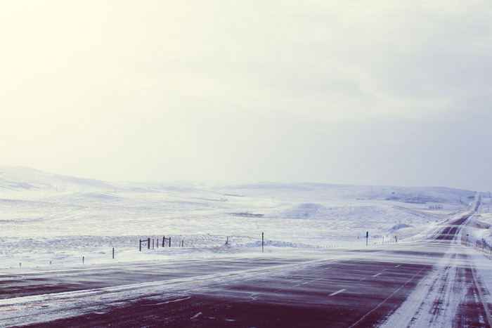 The winter roads on the reservation are as beautiful as they are hazardous.