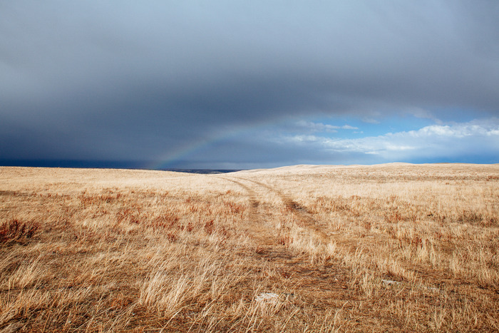 One of the most beautiful places in the world: The big skies of the Blackfeet reservation.