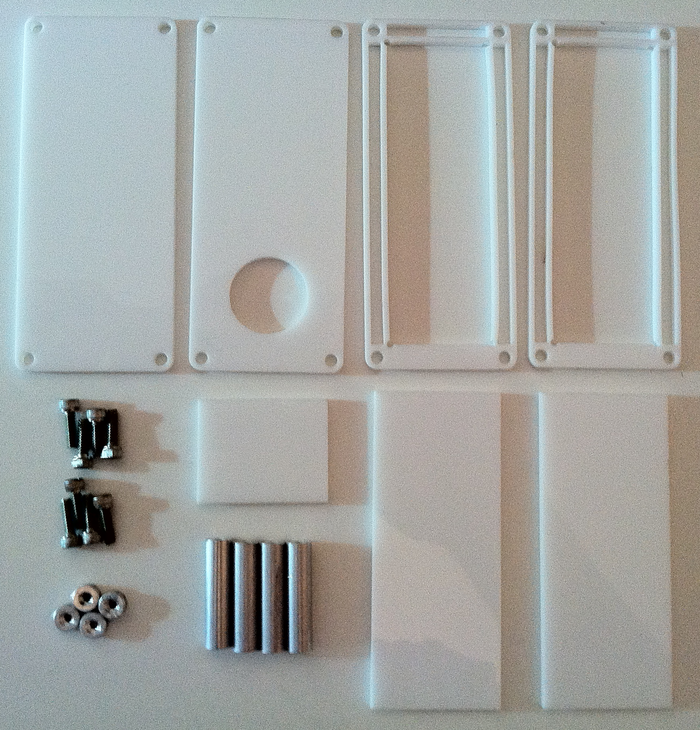 Nixie tube enclosure parts