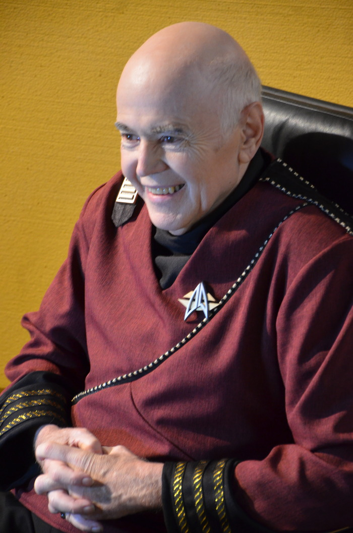Walter Koenig (Admiral Chekov) and his comm badge