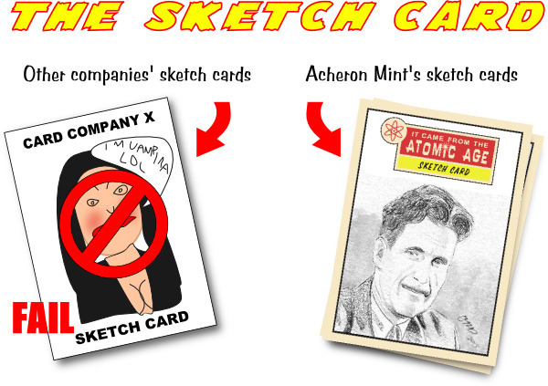 Other company's sketch cards look they have been scrawled by a diseased wombat