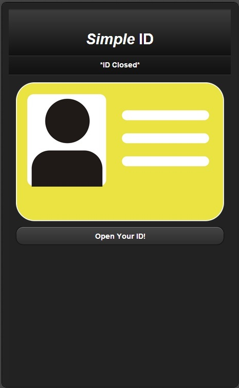 Symple ID Application Mock-up