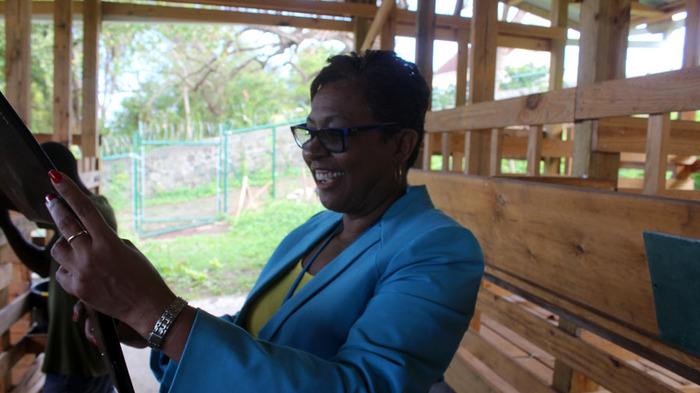 Principal Ms. Alexander embraces this project for her school, Grenada and the region...