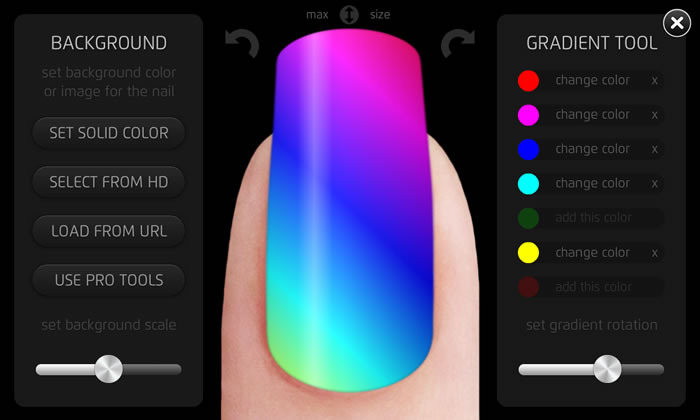 With gradient tool, you can create great looking effects (try this with nail polish!)
