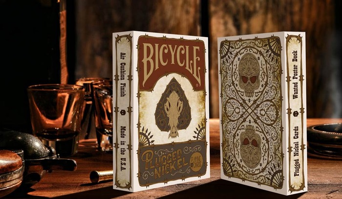 Plugged Nickel Playing Cards - Wanted Poster Tuck Box