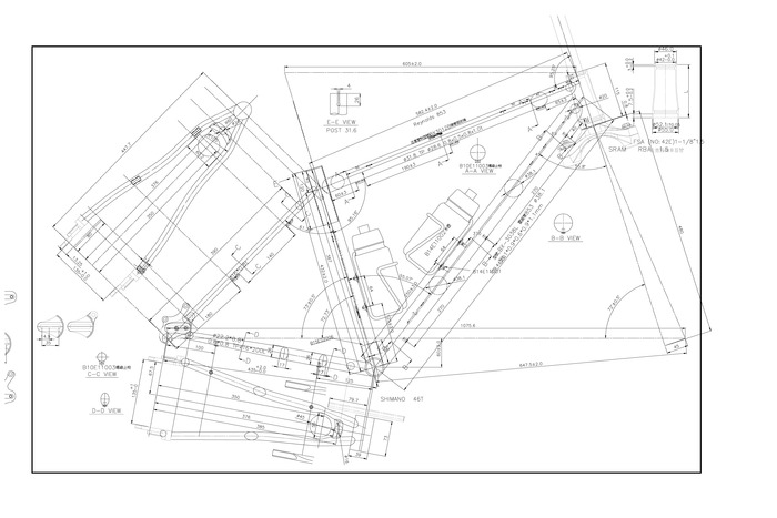 First full 2d drawing based on 3d cad modeling for the vendor