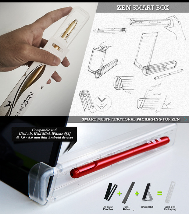 The reinvented pen box for touch screen era