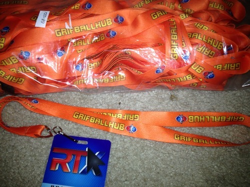 Pictured: Grifball Lanyard (Not pictured: Crowd of adoring fans)