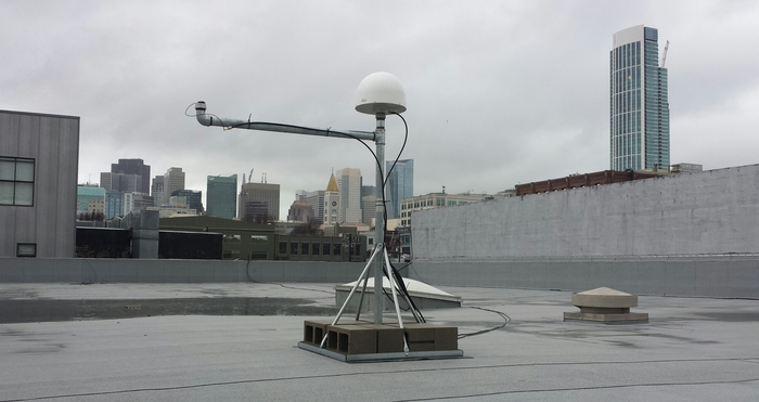A sunny San Francisco afternoon, our dual antenna setup taking in the rays