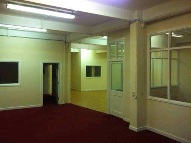 Day 1 - part of the hot-desking and venue space before we started work