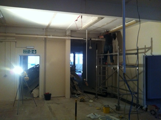 Day 6 - removing old conduit and lighting