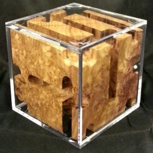 Black Ash Burl Revealed Maze. (Version 1)