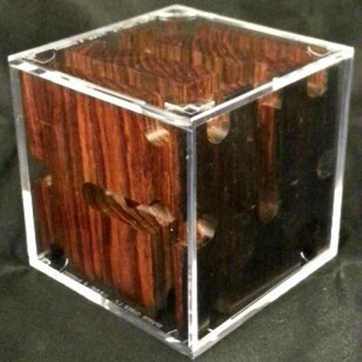 Figured Cocobolo Revealed Maze. (Version 1)