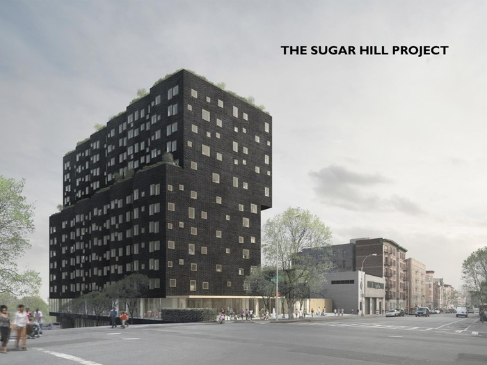 Location of Sugar Metropolis project at the new Sugar Hill building in Harlem