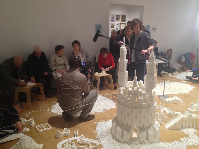 Intergenerational group building sculptures in the Northern Ireland version of Sugar Metropolis, November 2013