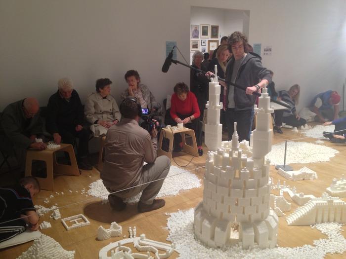 Intergenerational group building sculptures in the Northern Ireland version of Sugar Metropolis, November 2013