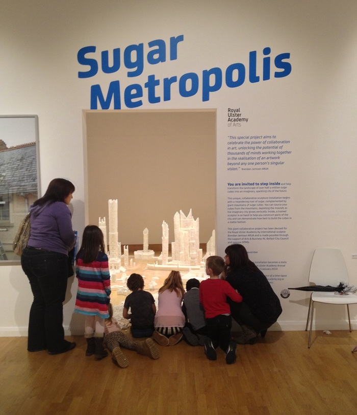Children entering the Northern Ireland version of Sugar Metropolis