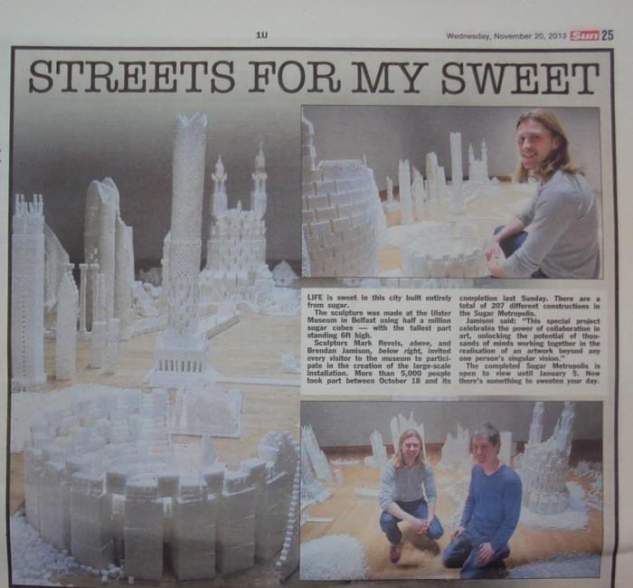 The Sun newspaper (UK)  article covering the Northern Ireland version of Sugar Metropolis in November 2013