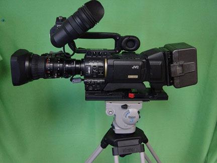 JVC camera and Vinten tripod