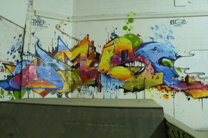 Northern illinois skateboard training facility mural for Extra mural courses