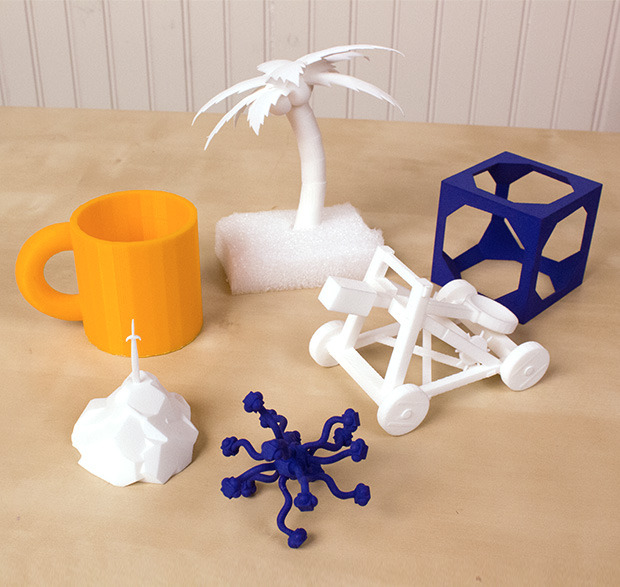 3D prints of models created in MakeVR