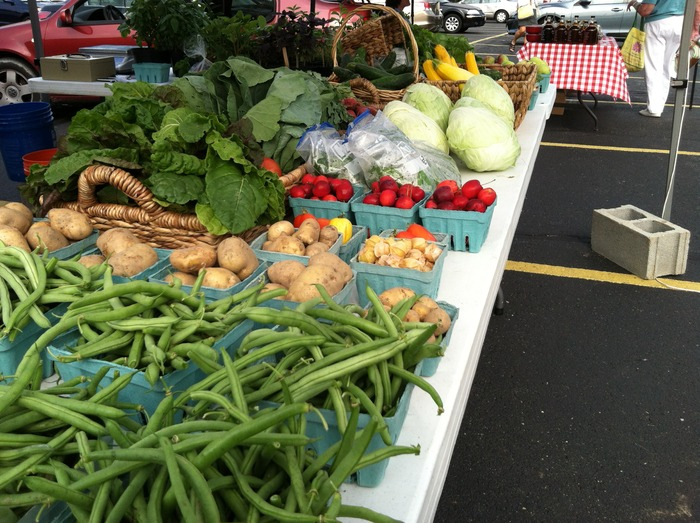 The spread at our weekly summer market